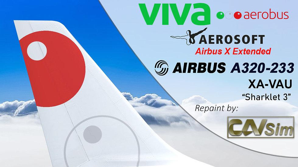 A320-232SL(SK) VivaAerobus 'Sharklet 3' 'XA-VAU'