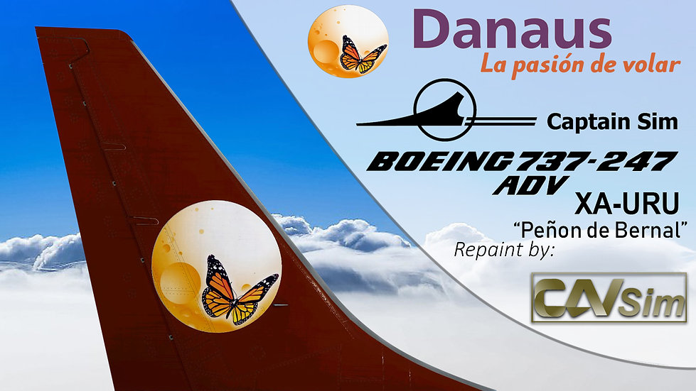 Boeing 737-247/ADV Danaus Lineas Aéreas 'Peña de Bernal' 'XA-URU'