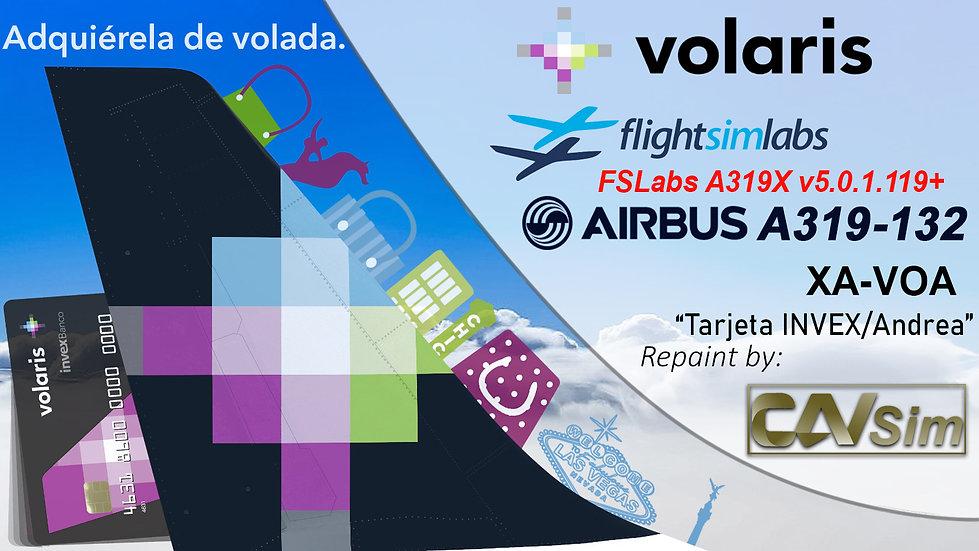 A319-133 (WT) Volaris 'Invex Credit Card - Andrea' 'XA-VOA'