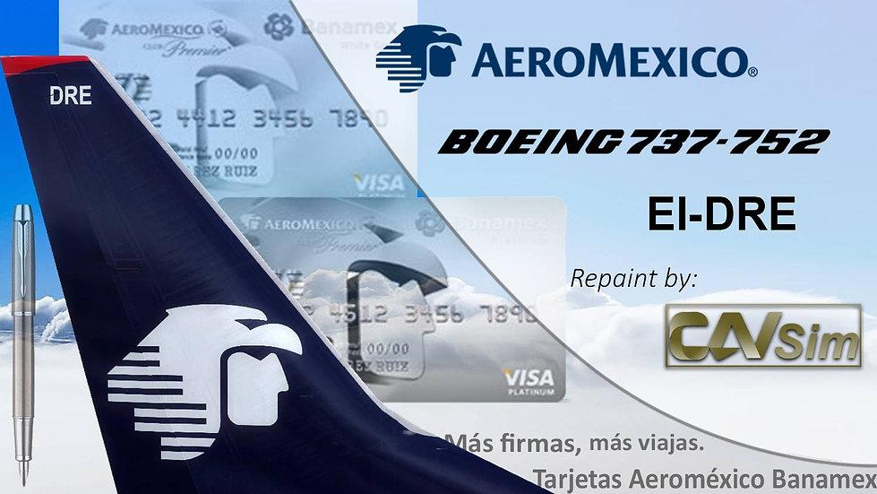 Boeing 737-752(WL) Aeromexico 'Sticker Tarjetas Banamex' 'EI-DRE'