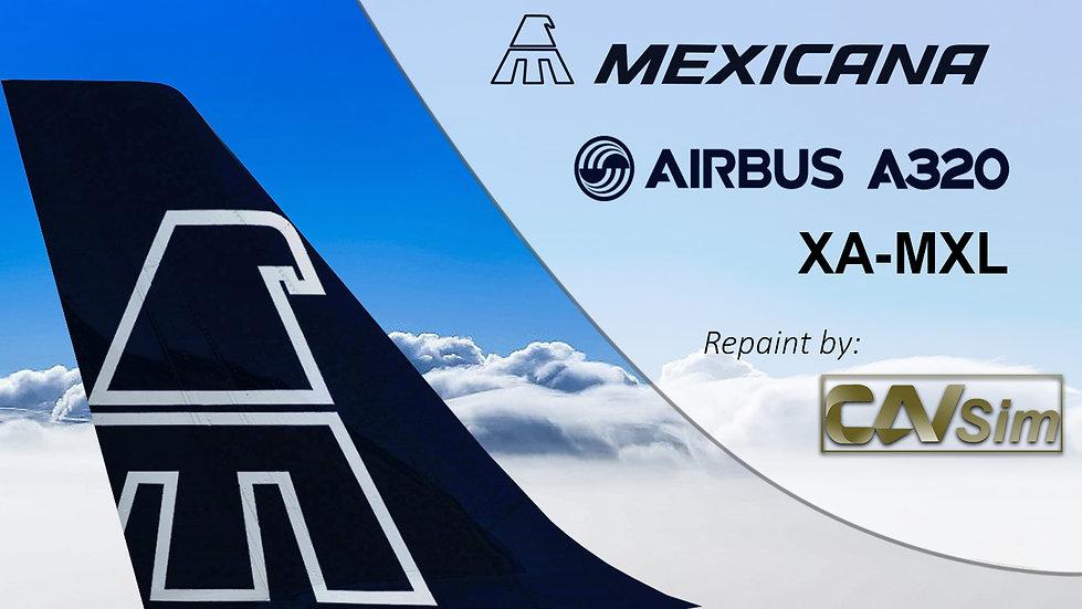 Airbus A320-214 Mexicana 'Blue Livery' 'XA-MXL'