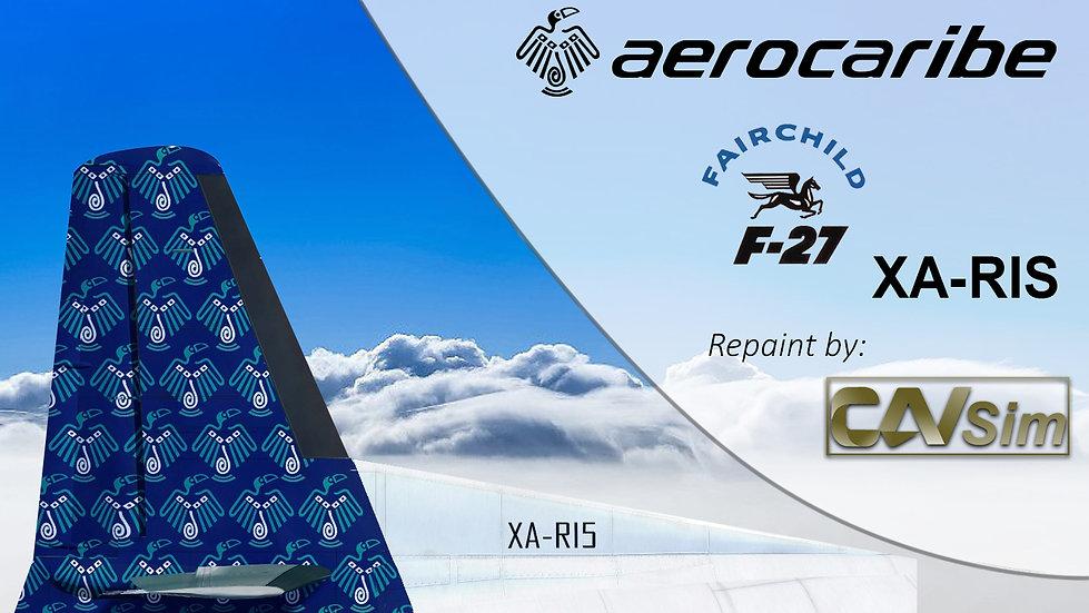 Fairchild Aviation F-27F Aerocozumel  'Tucan's Blue Livery 'XA-RIS'