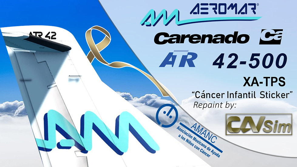Avions de Transport Regional ATR42-500 Aeromar 'Cáncer Infantil' 'XA-TPS'