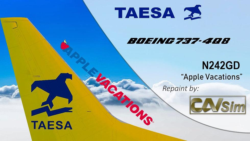 Boeing 737-4Q8 TAESA 'Apple Vacations' 'N242GD'