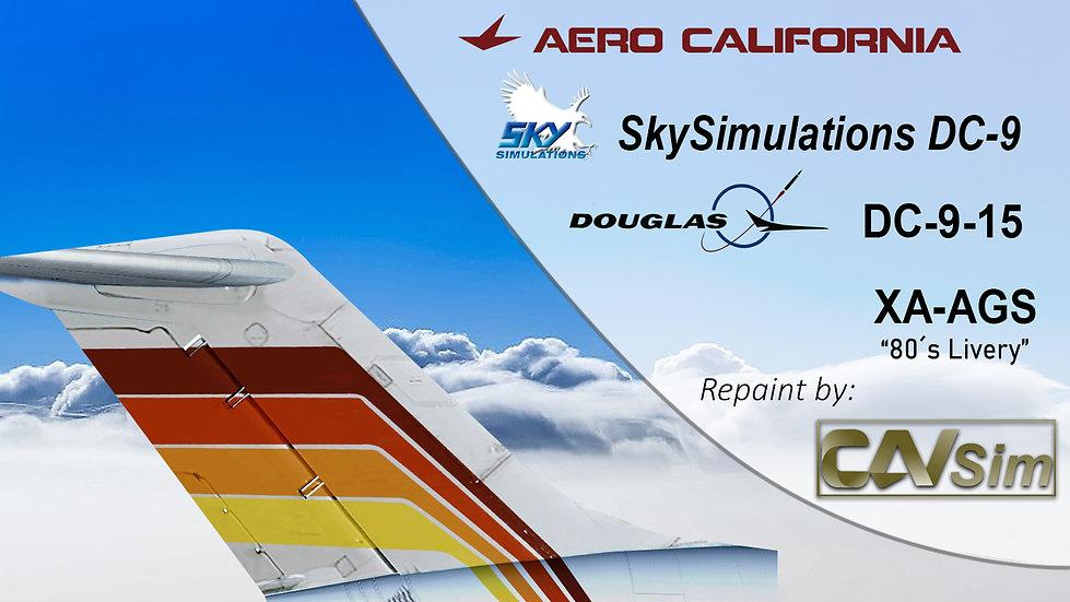 Douglas Aircraft DC-9-15 Aerocalifornia '80's Livery' 'XA-AGS'
