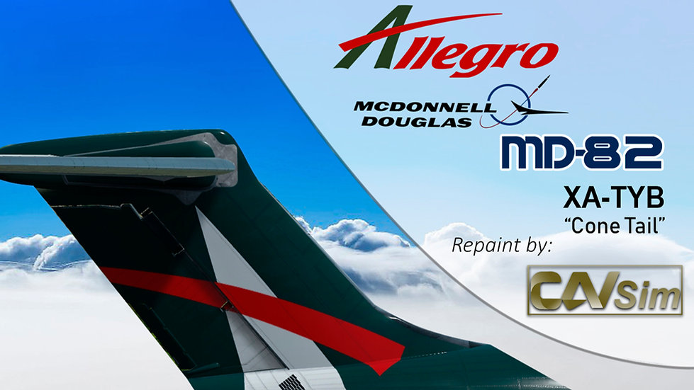 MDD MD-82 Allegro Airlines 'Green Livery' Cone Tail' 'XA-TYB'