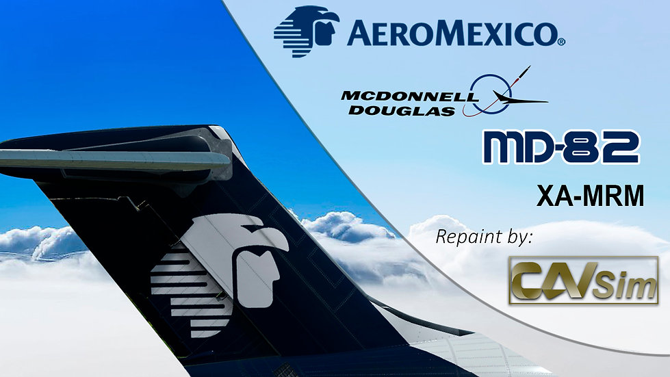 MDD MD-82 Aeromexico 'Livery Late 90s' 'White Livery' Flat Tail 'XA-MRM'