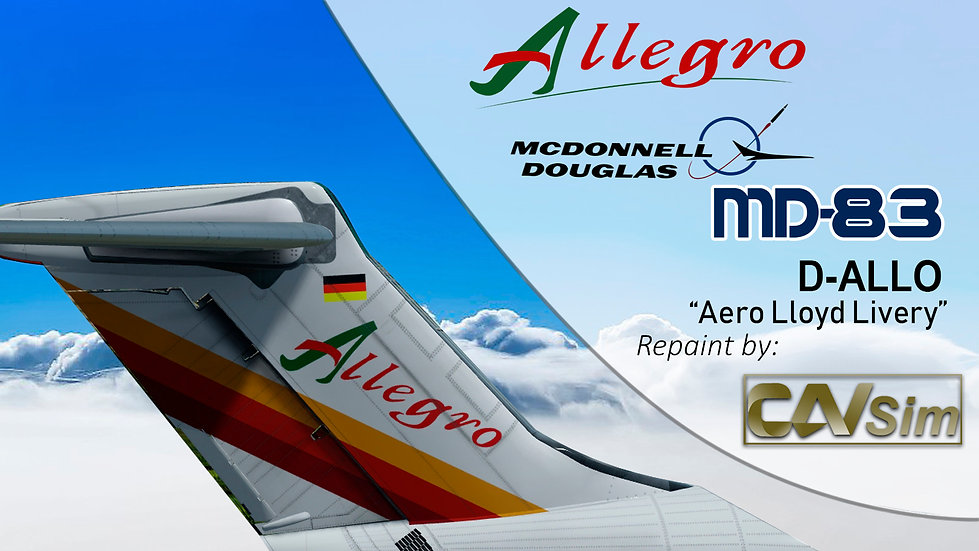 MDD MD-83 Allegro Airlines 'Transition Aero Lloyd Livery' Flat Tail 'D-ALLO'