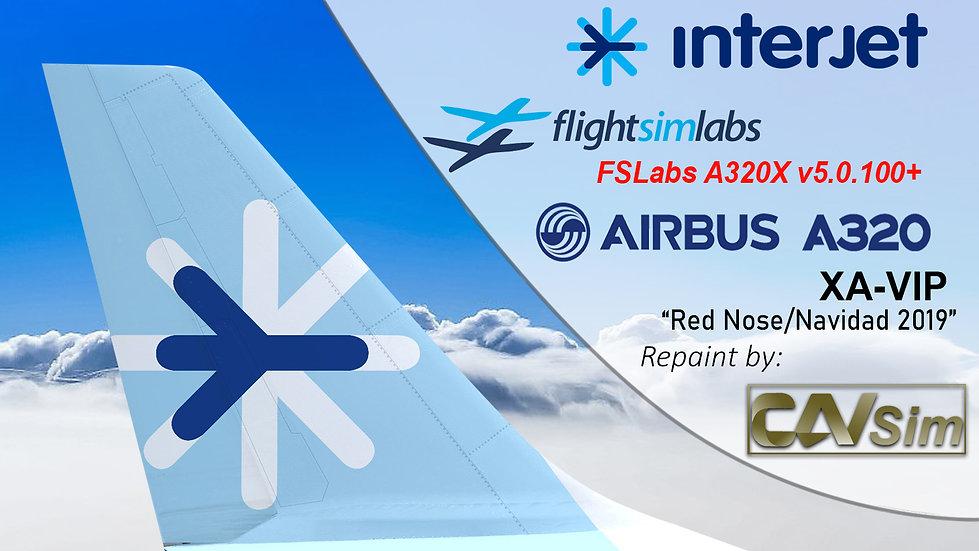 A320-214 (WT) ABC Aerolineas 'Interjet' 'RED NOSE' 'XA-VIP' CN: 3304