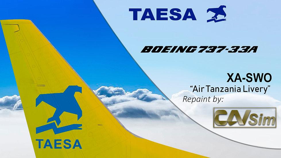 Boeing 737-33A TAESA 'Air Tanzania Livery' 'XA-SWO'