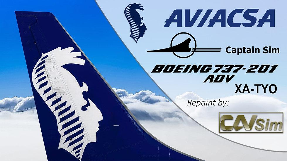 Boeing 737-201/ADV Consorcio Aviaxsa SA – AVIACSA 'Last Livery' 'XA-TYO'
