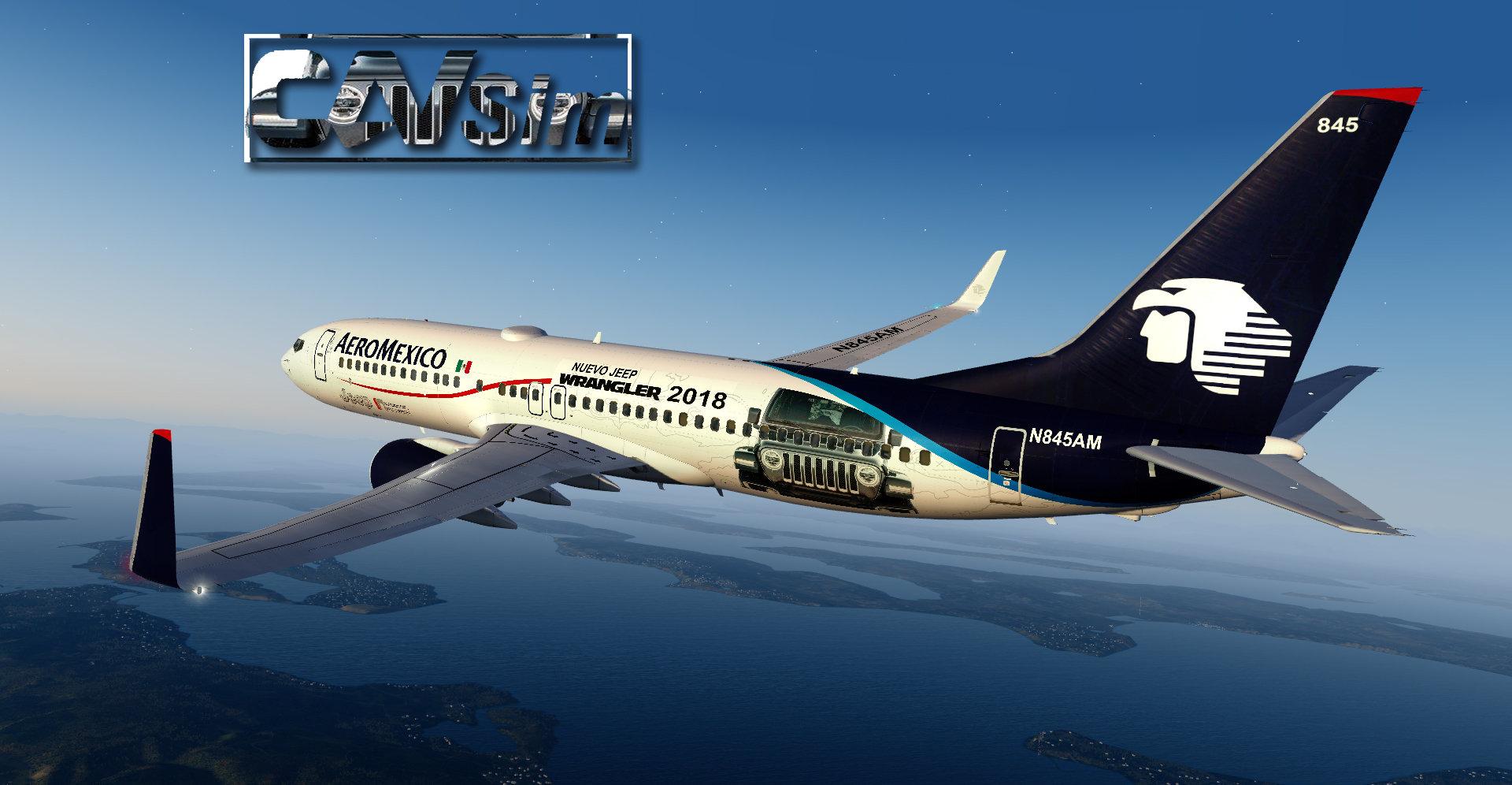 Pack Boeing No  23 Aeromexico B737-800WL 'Special Liveries' Vol 4