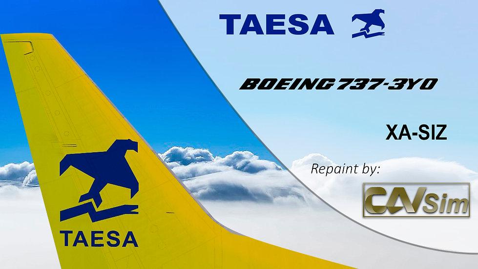 Boeing 737-3Y0 TAESA 'Yellow Tail' 'XA-SIZ'