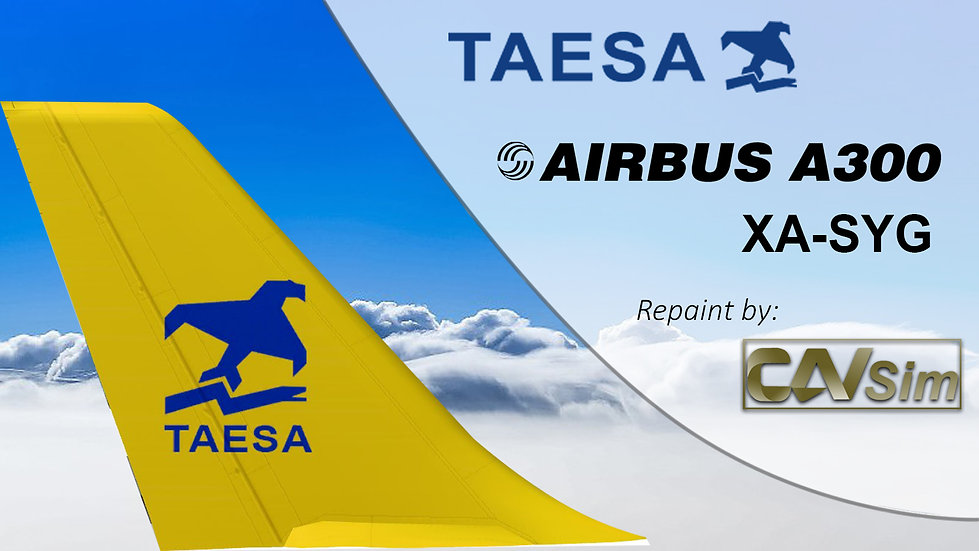 Airbus A300B4-203R TAESA 'Standard Livery' 'XA-SYG'