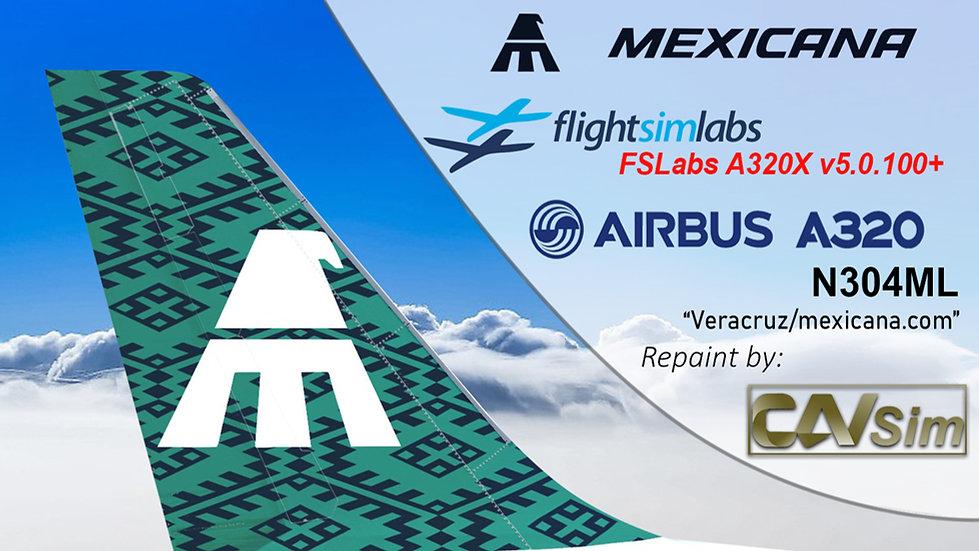 A320-231 (WT) Mexicana 'mexicana.com' 'N304ML' CN: 373