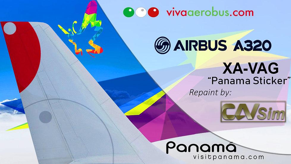 Airbus A320-232 VivaAerobus 'Visit Panama Sticker' 'XA-VAG'