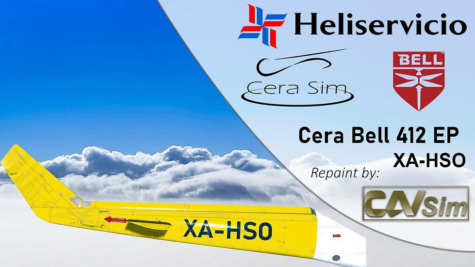 Bell 412 EP Heliservicio Campeche SA de CV 'White and Yellow' 'XA-HSO'