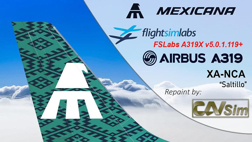 A319-112 (WT) Mexicana 'Saltillo' 'XA-NCA'