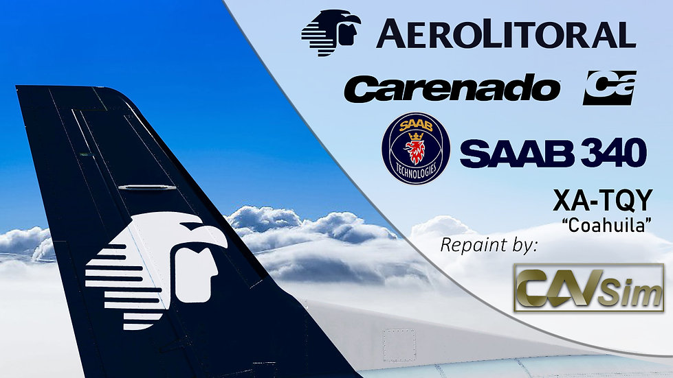 SAAB Aircraft AB SF-340B Aerolitoral SA de CV 'Coahuila' 'XA-TQY'