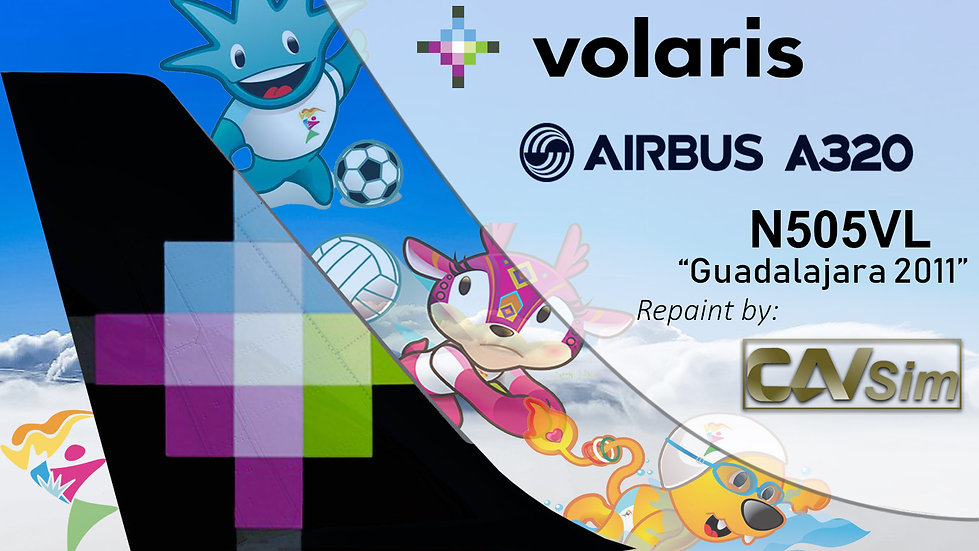 Airbus A320-233 Volaris 'Juegos Panamericanos Guadalajara 2011' 'N505VL'