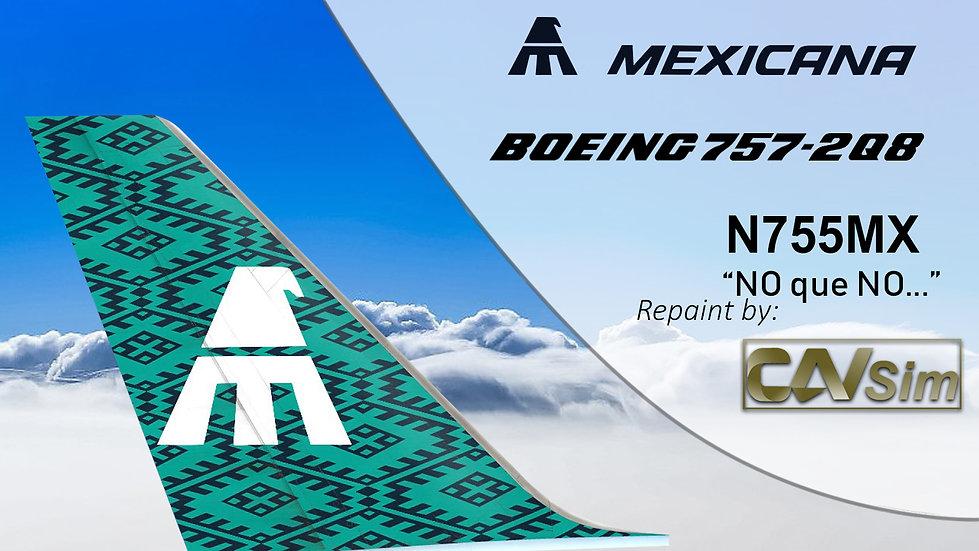 Boeing 757-2Q8 (4D) Mexicana No que No 80 Anniversary N755MX