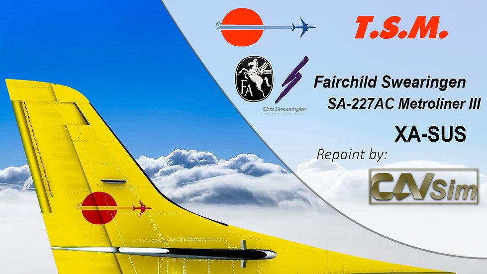 Fairchild Swearingen SA 227AC Metro III Aeronaves TSM 'Livery DHL''XA-SUS'
