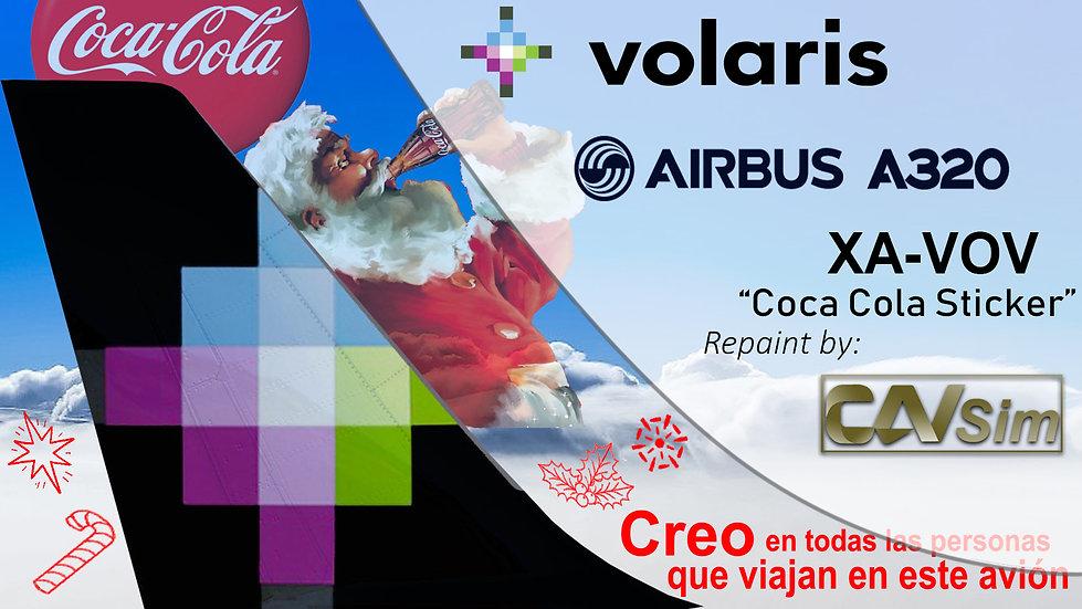 Airbus A320-232 Volaris 'Coca Cola Livery' 'XA-VOV'