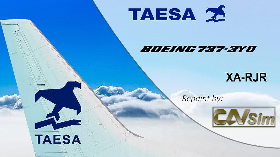 Boeing 737-3Y0 TAESA 'White Livery' 'XA-RJR'