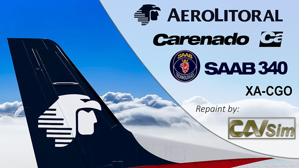 SAAB Aircraft AB SF-340B Aerolitoral SA de CV 'Last Livery' 'XA-CGO'