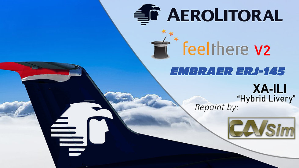 Embraer ERJ-145LU Aerolitoral 'Hibrid Livery''XA-ILI'