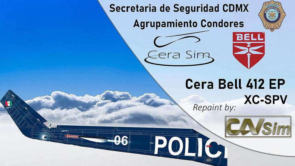 Bell 412 SP Gobierno de la CDMX 'Agrupamiento Condores 2006 'XC-SPV'