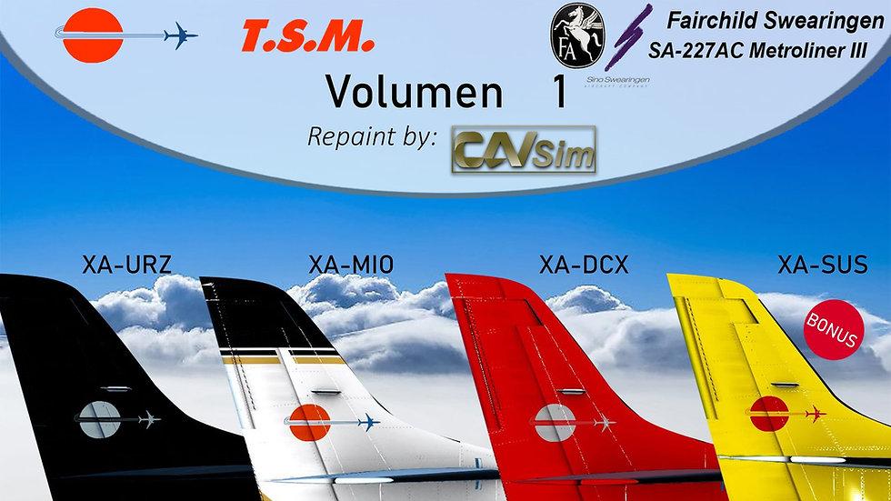 Pack No. 32  Fairchild Swearingen SA-227AC Metroliner III Aeronaves TSM
