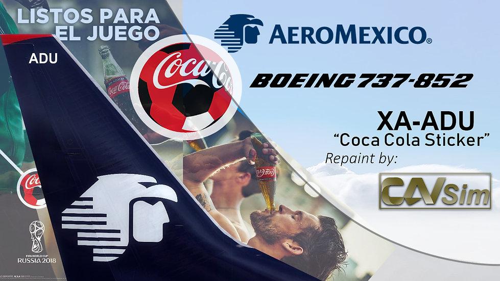 Boeing 737-852(WL) AeroMexico 'Sticker Coca Cola' 'XA-ADU'