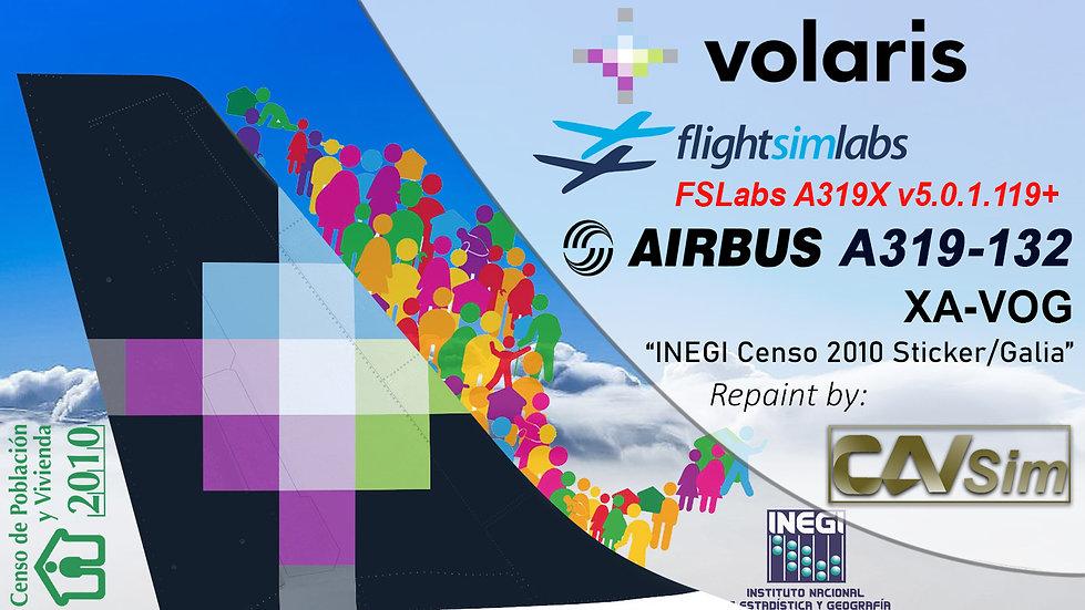 A319-133 (WT) Volaris 'INEGI Censo 2010-Galia' 'XA-VOG'