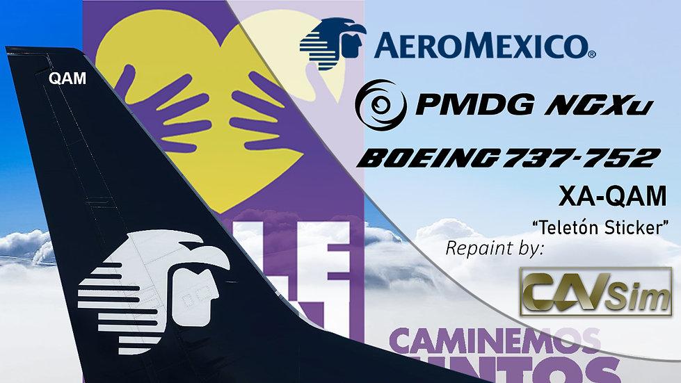 B737-752(BW) AeroMexico Teleton 2011 Sticker 'XA-QAM'