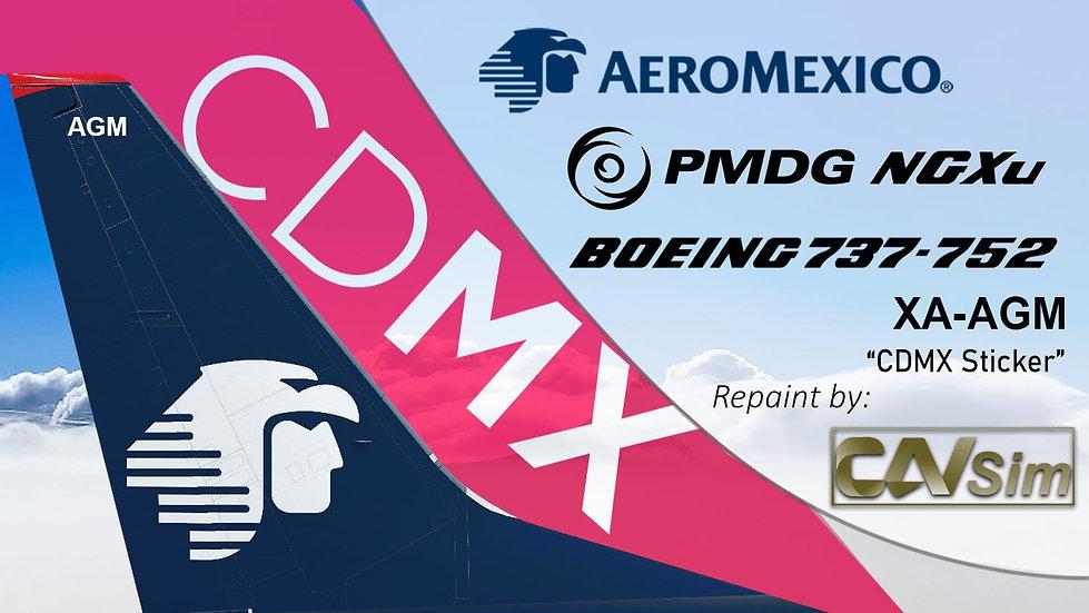 B737-752(BW) AeroMexico CDMX Sticker  'XA-AGM'