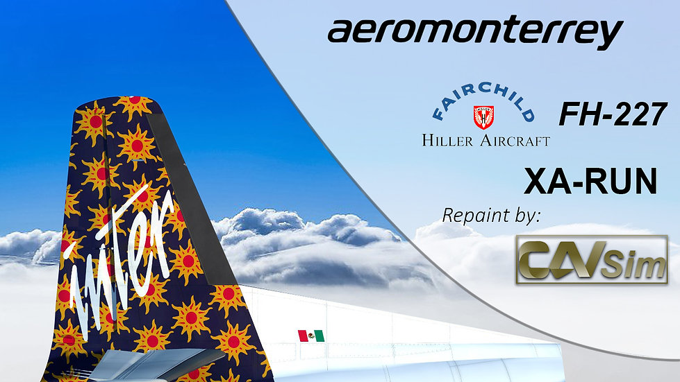 Fairchild Hiller FH-227B Aeromonterrey 'Suns Livery' 'XA-RUN'