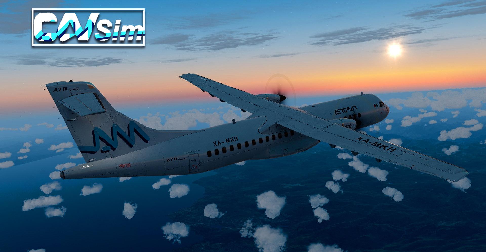 Avions de Transport Regional ATR 72-600 Aeromar 'White Livery' 'XA-MKH'
