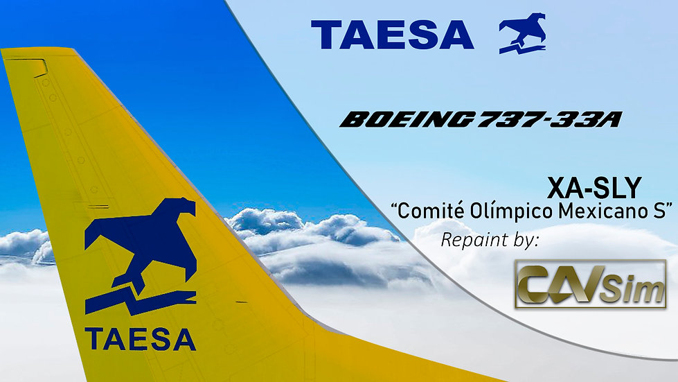 Boeing 737-33A TAESA 'Yellow Livery-COM' 'XA-SLY'