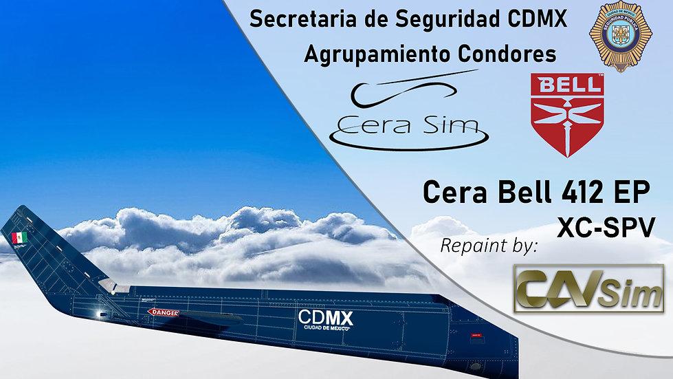 Bell 412 SP Gobierno de la CDMX 'Agrupamiento Condores 06 2015 'XC-SPV'