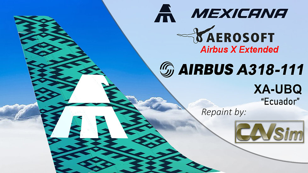 A318-111SL(WT) Mexicana 'Green Livery' 'Ecuador' 'XA-UBQ'