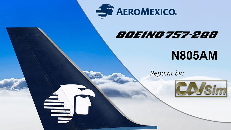 Boeing 757-2Q8 (4D) Aeromexico Last Livery N805AM