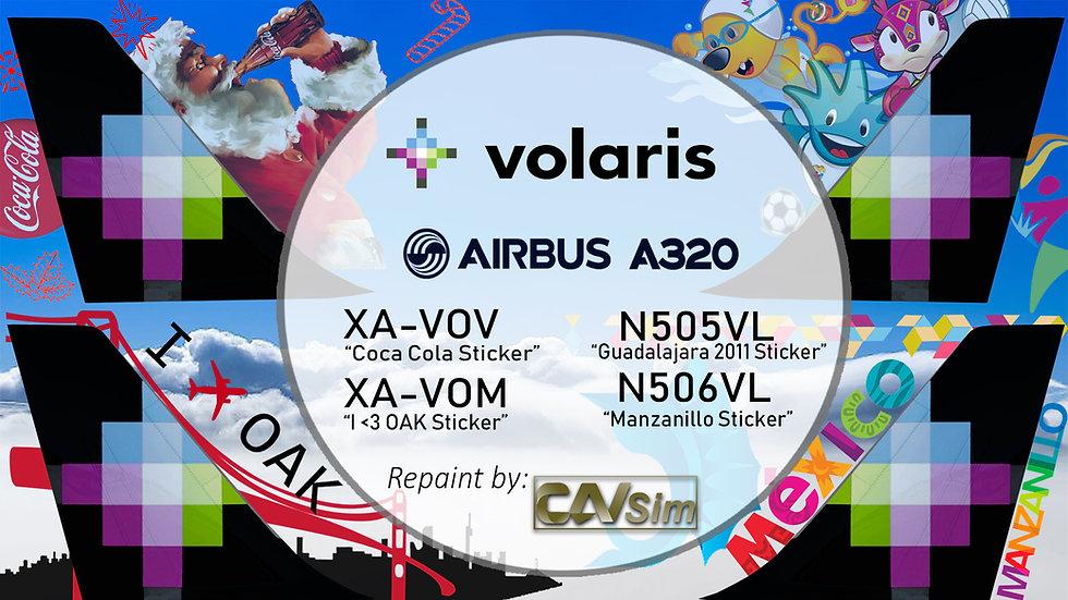 Pack No. 20 Airbus A320-233 Volaris Special Liveries