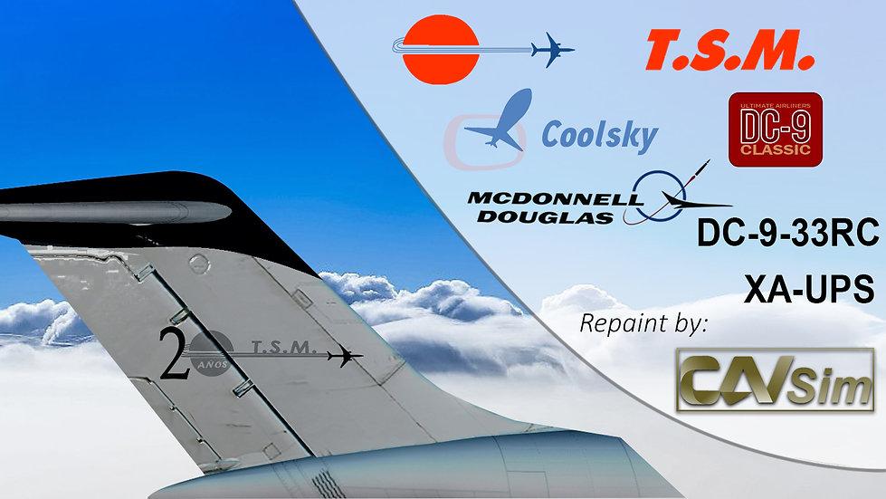 McDonnell Douglas DC9-33RC Aeronaves TSM 'Black Livery' '20 Años' 'XA-UPS' F1