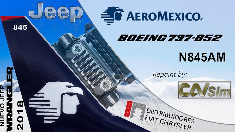 Boeing 737-852(WL) AeroMexico 'Sticker Jeep Wrangler 2018' 'N845AM'