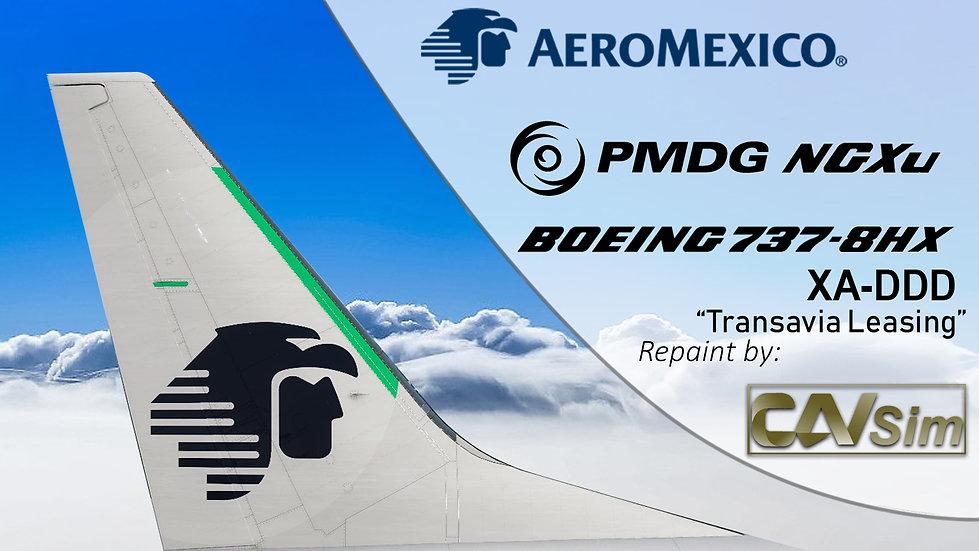 B737-8HX(BW) Aeromexico 'Transavia France Livery' 'XA-DDD'