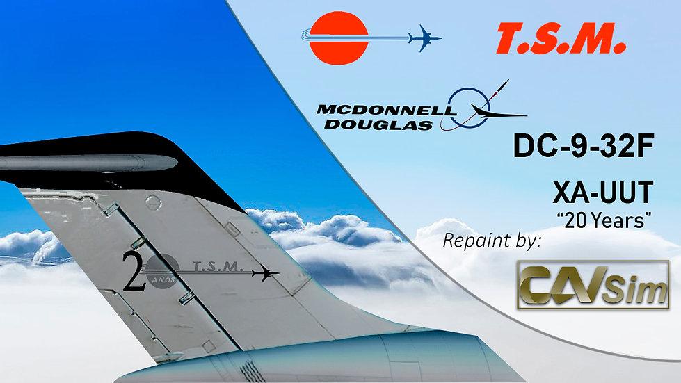McDonnell Douglas DC9-32CF Aeronaves TSM 'Black Livery' '20 Años' 'XA-UUT'