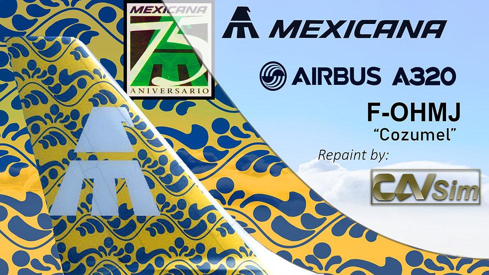 Airbus A320-231 Mexicana 'Cozumel-75 Anniversary' 'F-OHMJ'