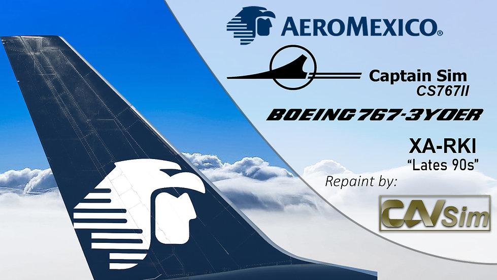 B767-3Y0ER Aeromexico Lates 90s Chrome Livery XA-RKI