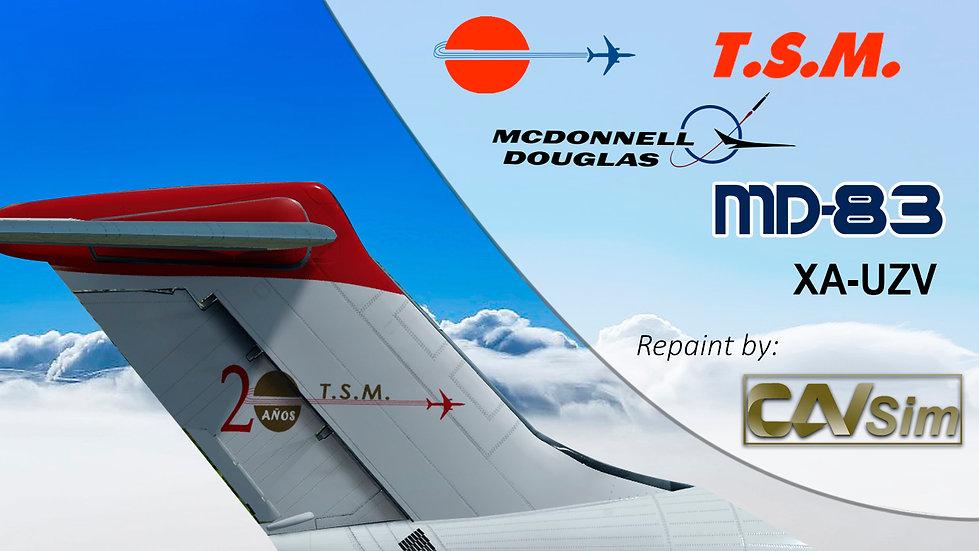 MDD MD-83SF Aeronaves TSM 'Red Livery-20 Years' Flat Tail  'XA-UZV'